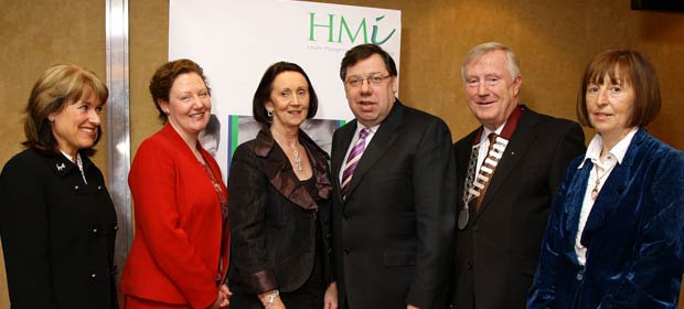 Breda Crehan-Roche, Cora McGaughan, Chairperson, Healthcare Risk Managers Forum,Mary Doherty, An Taoiseach, Brian Cowen T.D. Denis Doherty and Dymphna Bracken, HSE Area Communications Manager, Dublin Mid Leinster