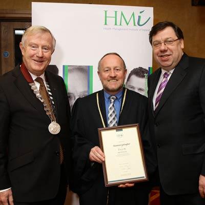 Denis Doherty, Seamus Gallagher and An Taoiseach, Brian Cowen TD