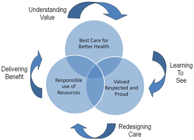 Figure 1: The Bolton Improving Care System – Striving for Excellence