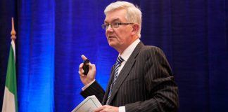 Dr. Ambrose McLoughlin Secretary General of the Department of Health addresses the HMI Annual Conference 2012
