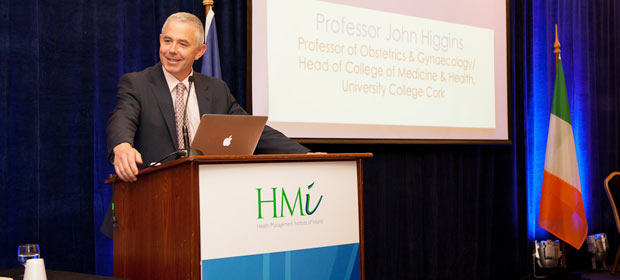 Prof. John Higgins, Chair of the Hospital Group Strategic Board addresses the HMI Annual Conference 2012