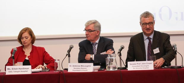 Ms Eilish Hardiman, Dr. Ambrose Mcloughlin and Prof. John Crown