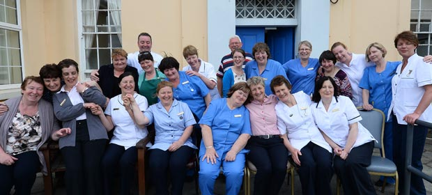Kenmare Community Hospital staff and friends outside the old hospital