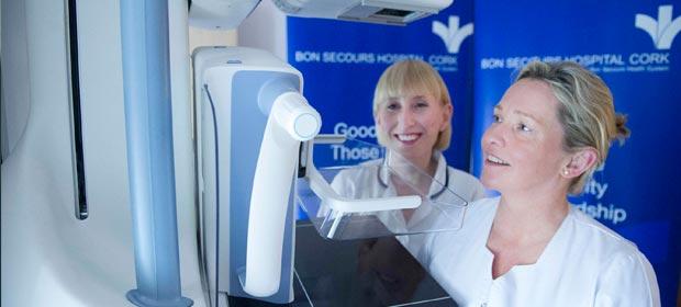 Carol O'Sullivan clinical specialist mammography and Norma Connolly clinical specialist mammography
