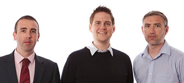Fergus Thompson, Dr. Crhis Soraghan and Anthony Edwards.