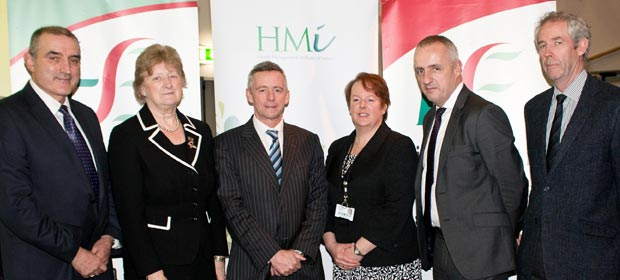 Mr Richard Dooley, General Manager, WRH, Prof Geraldine McCarthy, Chair of the South and South West Hospitals Group, Dr Phillip Crowley, National Director of Quality and Patient Safety, HSE, Ms Claire Tully, Director of Nursing and Midwifery, WRH, Dr. Rob Landers, Clinical Director, WRH, and Mr Mark Doyle,Consultant in Emergency Medicine, WRH pictured at the  first Quality Improvement Conference in Waterford Regional Hospital.