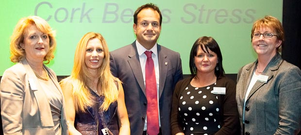 Roisin Maguire, Elizabeth Downey, Carmel Feely and Eileen Ruddin with Health Minister Dr. Leo Varadakar T.D.