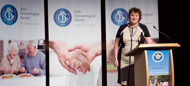 Ms. Mo Flynn, Chief Executive of Rehab and President of the Irish Gerontological Society