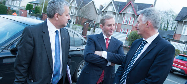 New Bon Secours Hospital Group CEO Bil Maher, An Taoiseach Enda Kenny and Harry Canning GM Bon Secours Hospital