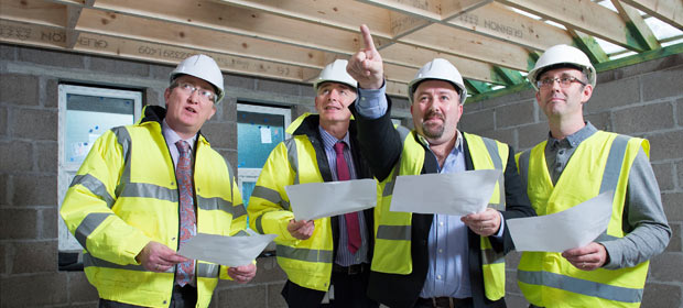 Left to right Andrew McCarthy and Harry Canning, Bon Secours Hospital Cork, John Calnan and Tim O' Connell of St. Vincent de Paul
