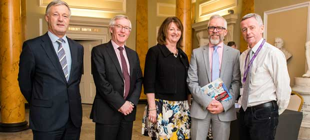 Pictured at the launch of the RCSI MSc in Human Factors in Patient Safety are (l-r) Prof Oscar Traynor, RCSI, Mr Declan Magee, RCSI, Dr Eva Doherty, RCSI, Mr Patrick Lynch, HSE and Dr Philip Crowley, HSE