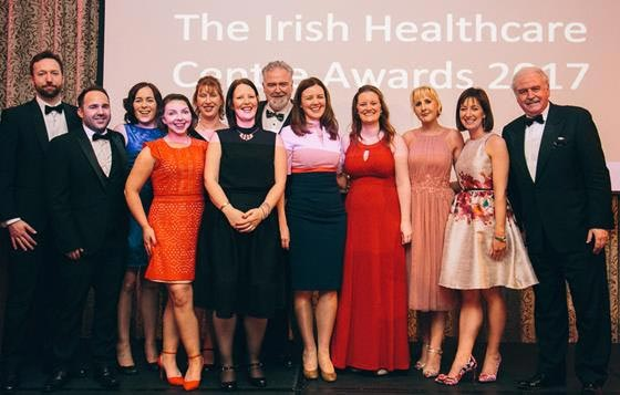 Teams from St. Vincent's University Hospital accept their awards