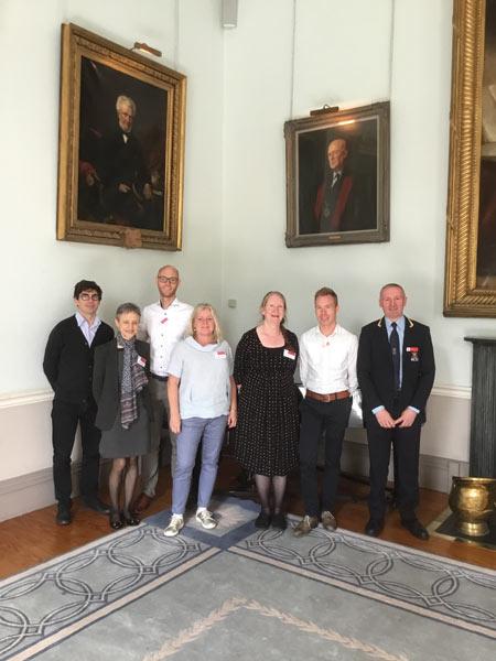 HOPE Exchange Participants who visited Ireland, Marven Buskens, Helle Kjaer Hvidtfeldt, Benoit Mournet, Kai Janisch, Isabel Irigoyen and Gillian Colville.