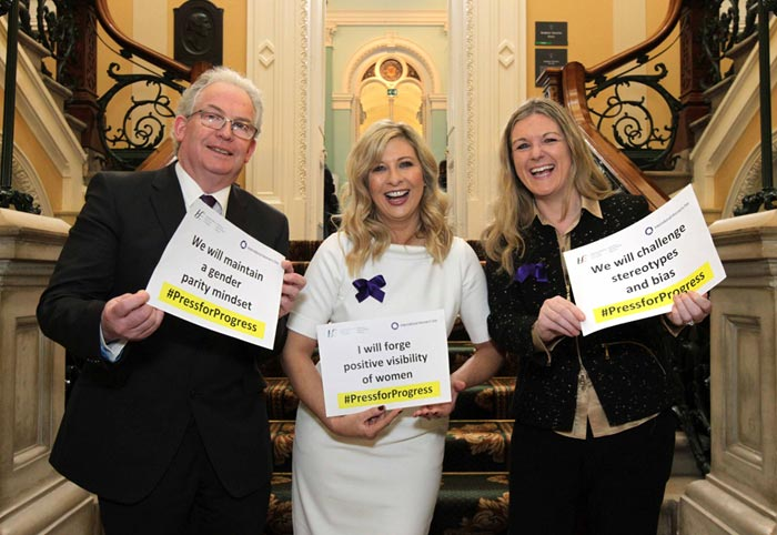 HSE Director General, Tony O'Brien, Laura Woods, TV3 and Rosarii Mannion, HSE National Director of HR