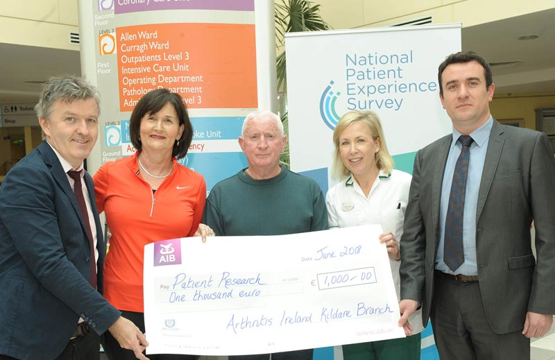 Dr Ronan Mullen, Consultant Rheumatologist, Tallaght University Hospital and Naas General Hospital, Claire Kinneavy, Secretary Arthritis Ireland (Kildare Branch), Johnny O'Connor, Chairperson Arthritis Ireland (Kildare Branch), Yvonne Codd, Senior Occupational Therapist Naas General Hospital and Brian Kearney, Operations Manager, Naas General Hospital.