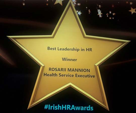 Rosarii Mannion received the HR Leader of the Year Award in December 2018