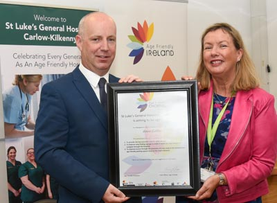 Minister of State, Mr. Jim Daly with Ms. Anne Slattery