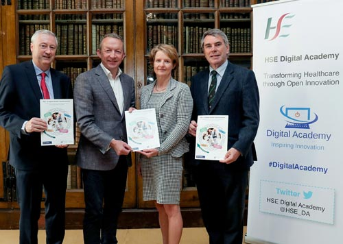 Martin Curley, Director, Digital Academy, Dr. Colm Henry, Chief Clinical Officer HSE, Prof. Ann Ledwith, VP University of Limerick, Dr. Michael Harty TD, Chair of Oireachtas Select Committee – Maxwell Photography.